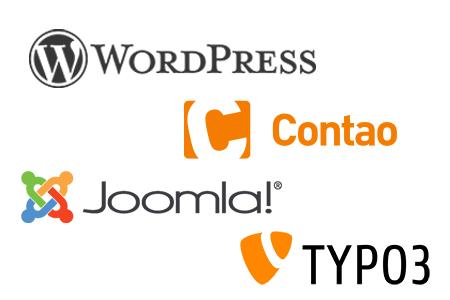 CMS Systeme WordPress, Joomla, Typo3, Contao