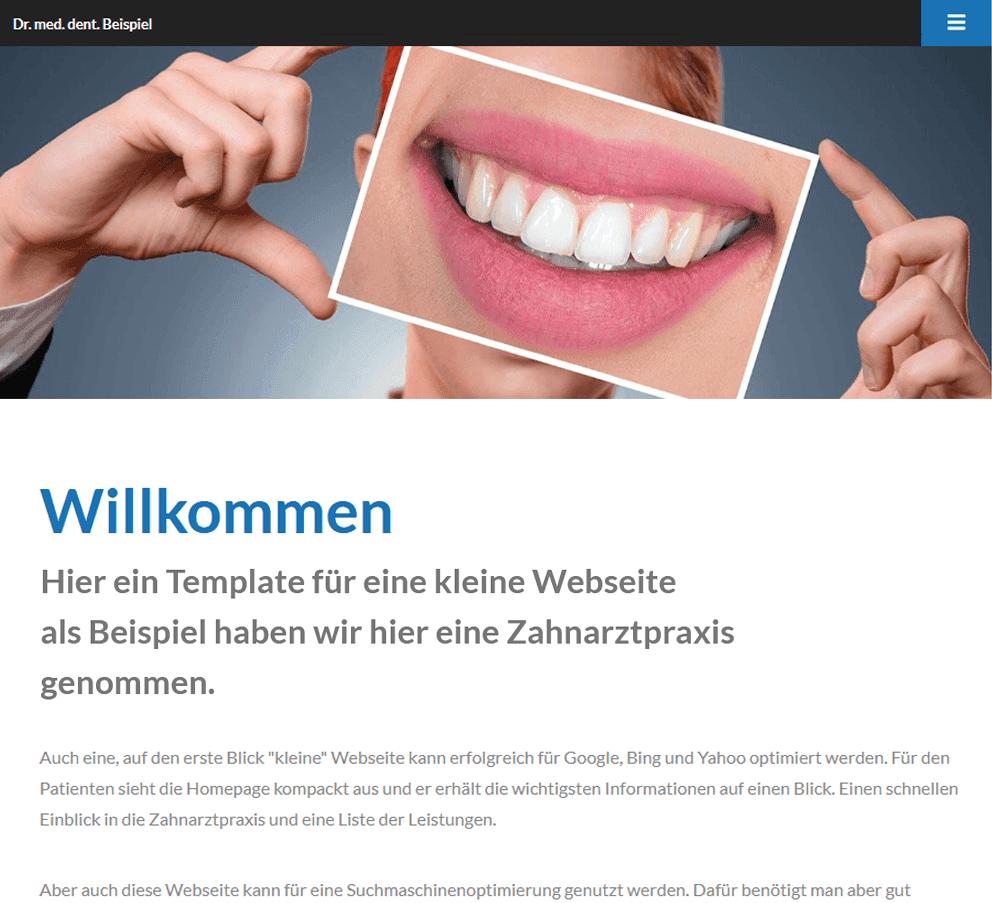 Webdesign Beispielwebseite